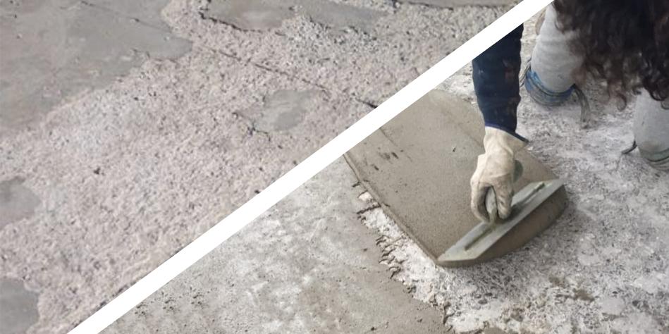 Ripristinare i pavimenti in calcestruzzo usurato con la malta FLOOR TENAX
